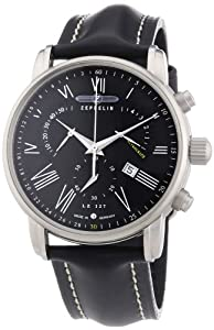 Zeppelin Men's Chronograph Watch 76822 With Roman Numeral Chronograph,Date Function And Tachymeter
