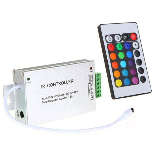 12V 24V 24 Key Amplifier Remote Led Controller For Rgb Smd Led Strip Light