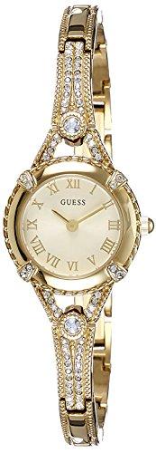 Guess W0135L2 - Orologio da polso donne, Placcato in acciaio inox, colore: Oro