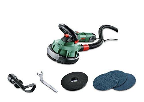 Bosch-DIY-Wandbearbeitungssystem-PWR-180-CE-Schleifteller-3x-Schleifpapier-P24P80P120-Statischer-Schlauch-Absaugadapter-1010-W-Schlauchlnge-25-m