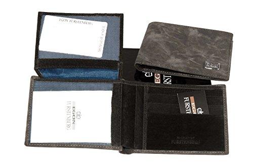 Portafoglio uomo EGON FURSTENBERG cenere porta carte di credito con patta A4316