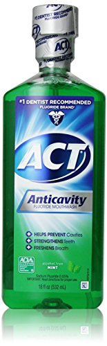 ACT Alcohol Free Anticavity Fluoride Rinse, Mint - 18 oz