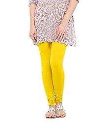 Lard Women's Cotton Leggings (Lard12_Yellow_Free size)