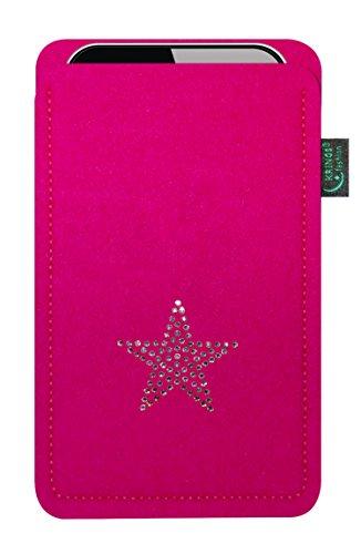 Fashion Krings feltro per Fire Phone, con stella in cristalli Swarovski; Qualità dalla Germania Filzfarbe pink