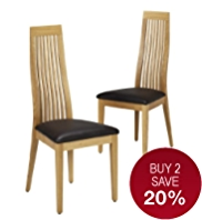 2 Wexford Slat-Back Dining Chairs