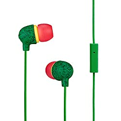 House of Marley Little Bird EM-JE061-RA In-Ear Headphones with Mic (Rasta)