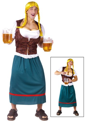 Beer Girl Male Funny Costume Adult Standard