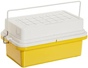 """Bel-Art Scienceware 188462020 Polycarbonate -20 Degree C Cryo-Safe Maxi Cooler, 9-1/2"""" Length x 6-3/16"""" Width x 5-3/4""""Height, 32 Places"""