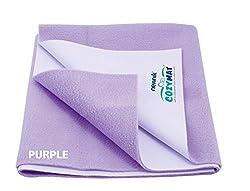 Cozymat Mattress Protector (Size: 140cm X 100cm) Purple, L