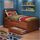 South Shore Twin Captain's Bed Imagine Collection, Morgan cherry