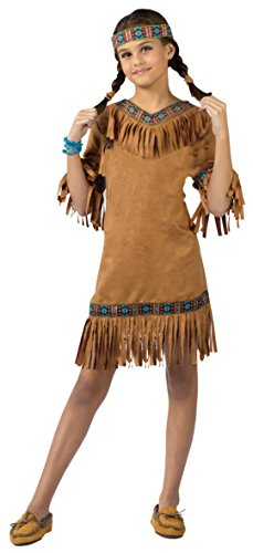 Girls American Indian Kids Child Fancy Dress Party Halloween Costume