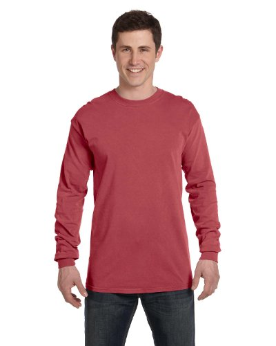 Comfort Colors Ringspun Garment-Dyed Long-Sleeve T-Shirt, Large, BRICK (Garment Dyed T Shirt compare prices)