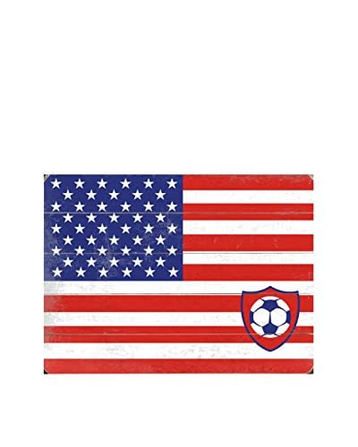 Artehouse Flag With US Soccer Ball Wood Wall Décor