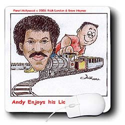 Londons Times Funny Panel Hollywood Cartoons - Lionel Ritchie Train Set - Mouse Pads
