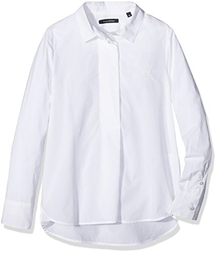 Marc O' Polo Kids Bluse 1/1 Arm, Camicia Bambina, Bianco (Bright White|White 1000), 10 Anni