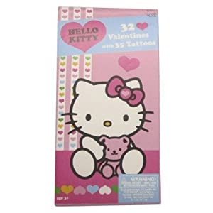 Amazon.com: Hello Kitty Valentines Day Cards with Tattoos ...