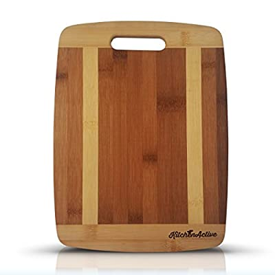 Kitchen Active Bamboo Cutting Board. Premium Eco Friendly Bamboo Wood With Handle.