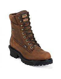 Justin Boots WK615 Men's Mahogany Harness Boots
