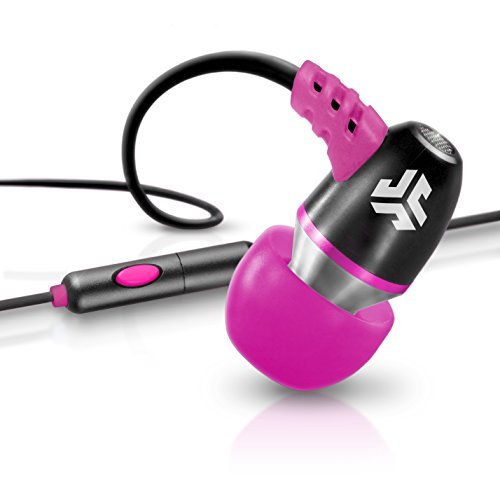 Jlab Jbuds Neon Metal In-Ear Earbuds With Universal Mic For Iphone & Android (Black/Pink)