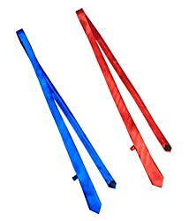 Combo of Vibhavari Men's Red & Blue Skinny Tie