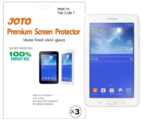 Lowest Price! JOTO - Samsung Galaxy Tab 3 Lite 7 Tablet Premium Screen Protector Film Anti Glare, An...