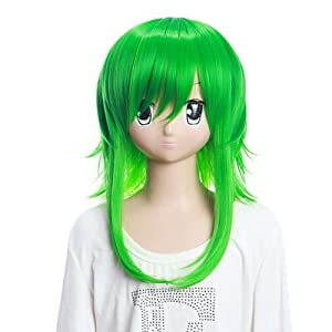 SureWells Weekend On Sale 10% Off Wig Vocaloid Gumi Green Fluffy Wigs Weekend On Sale 10% Off Party Wigs Fabulous wigs