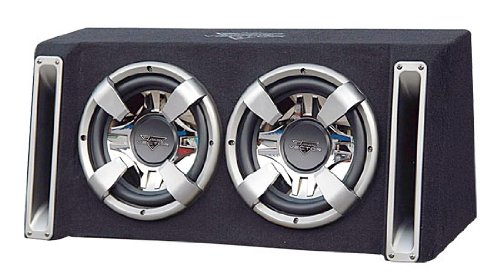 Lanzar Vchb210 Vector 2000-Watt Dual 10-Inch Slim-Designed Bass Box Enclosure
