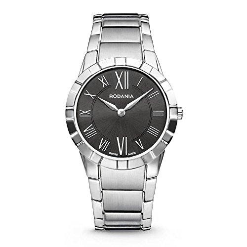 RODANIA Salina 25079-47 31mm Silver Steel Bracelet & Case Anti-Reflective Sapphire Men's Watch