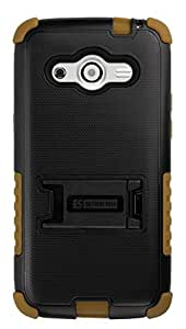 Beyond Cell Tri-Shield Case for Samsung Galaxy Avant - Retail Packaging - Black/Brown