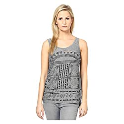 Kaxiaa Cotton Grey Top For Women (Size-Large)