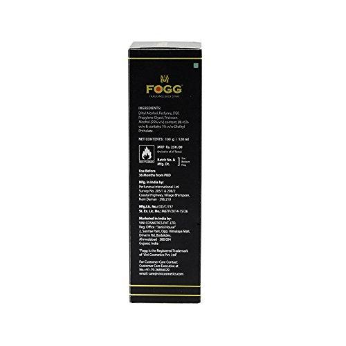 Fogg Fresh Deodorant Spicy Black Series For Men, 120ml