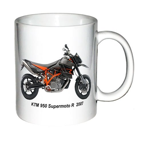 11oz Coffee Mug with the image of a KTM 950 SUPERMOTO R 2007