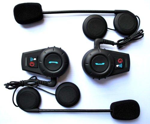 Keedox® 2 X Waterproof Bt Motorcycle Helmet Intercom Headset 500M For Ski/Atv/Motorcycle Sports