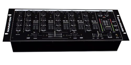 Marathon DJm-200USB 5-Channel 19-Inch Mixer,