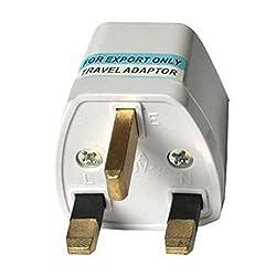 BEcom Portable US AU EU Europe to UK Power Socket Plug Adapter Travel Converter