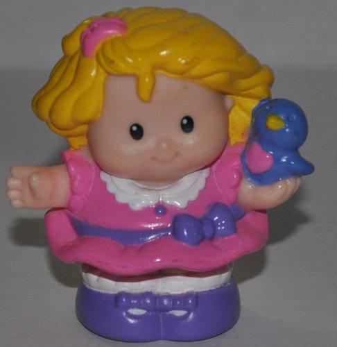 Little People Sarah Lynn in Pink Sunday Dress (2002) - Replacement Figure Accessory - Classic Fisher Price Collectible Figures - Loose Out Of Package & Print (OOP) - Zoo Circus Ark Pet Castle - 1