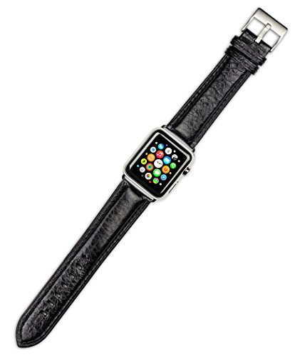 apple-watch-band-belting-leather-watch-band-black-fits-42mm-apple-watch-silver-adapters