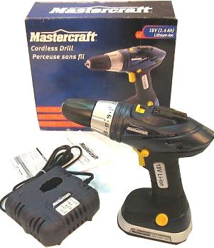 Factory Reconditioned-Mastercraft-Light Weight-Cordless Drill 18V-54-2811 (Mastercraft Drill compare prices)