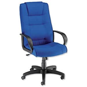 Trexus Intro Managers Armchair Back H720mm W530xD510xH470-570mm Royal Ref 10568-01