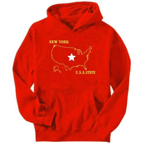 New York Usa Mens Hoodie