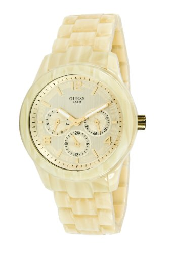 Guess W13572l2 Cream Ladies Watch