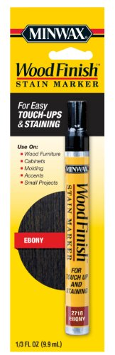 Minwax 63490 1/3-Ounce Wood Finish Stain Marker, Ebony