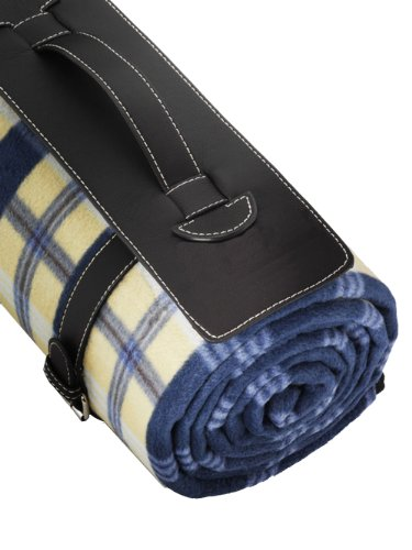 Outdoor Blanket by Freddie and Sebbie – Luxury Outdoor Blanket With Waterproof Backing, Super Soft Leather Carrying Handle, Chequered Style Large Blanket, Very Easy To Fold – Guaranteed To Keep You Clean and Dry – Perfect Beach, Travel, Picnic Blanket – Comes With A Lifetime Guarantee From A Company You Can Trust