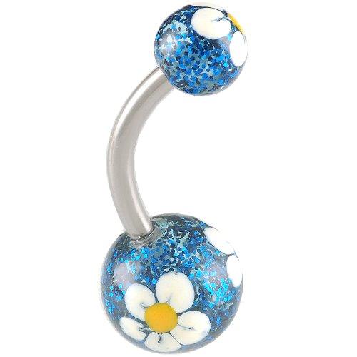 14Gauge 1.6mm 3/8 10mm Steel belly navel button ring bar ABSX Pierced Body Jewellery