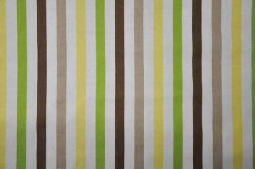 Mod Dots/Stripes Green/choco STRIPES Crib fitted sheet
