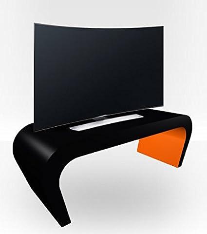 Außen schwarz Keil TV Ständer Orange glänzend