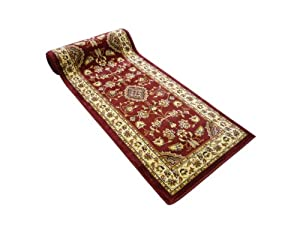 Rugs With Flair Sincerity Sherborne Red 60x230 Runner from Rugs With Flair