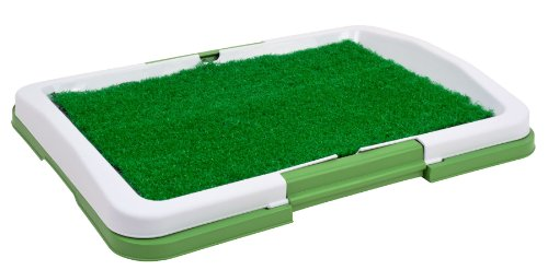 "Puppy Potty Trainer (Green) Indoor Grass Training Patch - 3 Layers - 18"" X 13"""