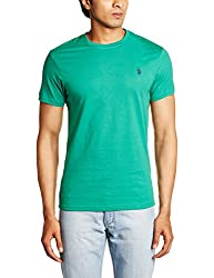 U.S. Polo Assn. Men's Crew Neck Cotton T-Shirt (I030-029-P1-S Green)