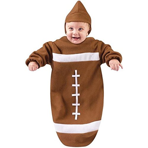 Infant Football Bunting, Brown, One Size Fits Most Babies up to 9 Months